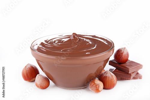 Obraz na plátně bowl of chocolate spread