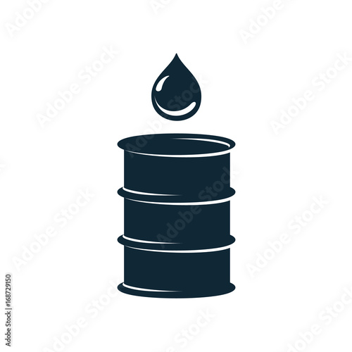 vector oil fuel barrel oil drop simple flat icon pictogram isolated on a white background Wallpaper Mural