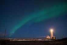 Northern Lights Or Aurora Bore...