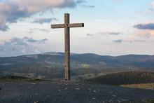Summit Cross At Belchen Black Forest View To Feldberg