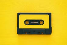 Retro Cassette Tape Over Yello...