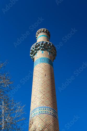 Fotografia  Minaret of the Jameh Mosque in Natanz, Iran