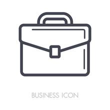Briefcase Outline Icon. Busine...