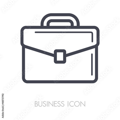 Briefcase outline icon. Business sign Canvas Print