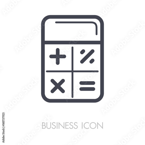 Fotografía  Calculator icon vector. Finances sign
