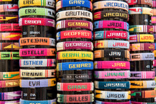 Colourful Bracelets With French Names