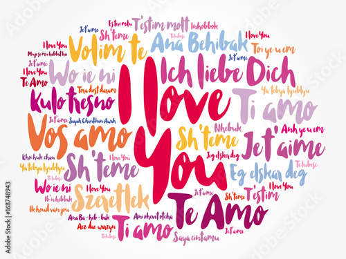 Love Words I Love You In Different Languages Of The World Word Cloud
