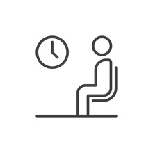 Waiting Room Line Icon, Outlin...