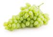 Leinwandbild Motiv green grapes isolated on a white background