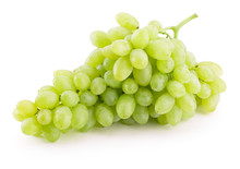 Green Grapes Isolated On A Whi...
