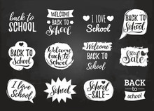 Vector Set Of Vintage Back To ...