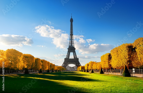 Spring at Champs de Mars in autumn Poster