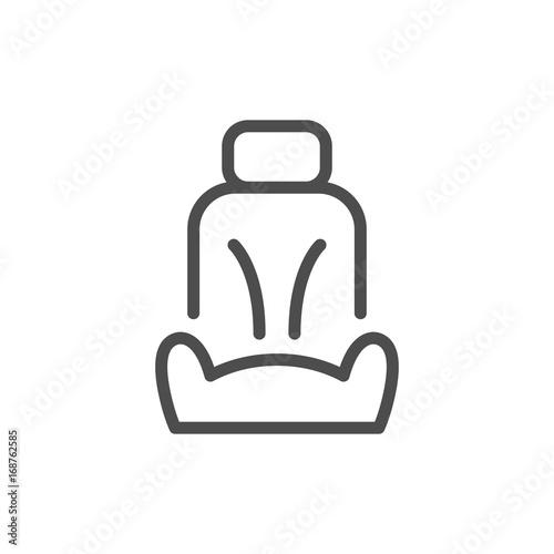 Fotografía  Car seat line icon