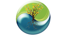 Earth Yin Yang Logo