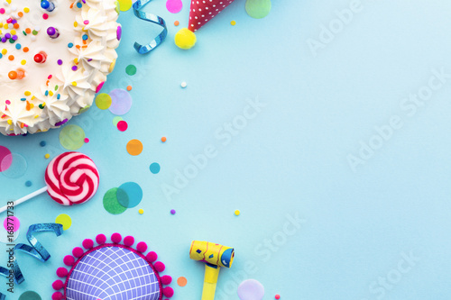 Birthday party background Canvas Print