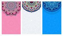 Set Of Vertical Backgrounds De...