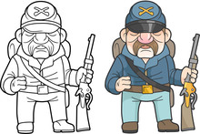 Cartoon Soldier Of The North A...