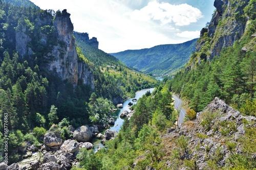 Obraz na plátně Vue du Point Sublime - Gorges du Tarn