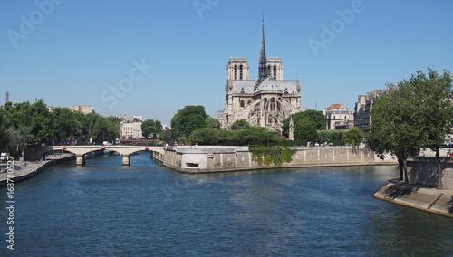 Cathédrale Notre-Dame de Paris et la Seine Canvas Print