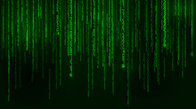 Background In A Matrix Style. ...