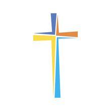 Christian Cross Icon. Vector I...