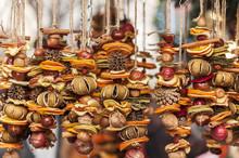 Close-up Of Dried Fruit Decora...