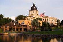 Sun Rising South Dakota State Capital Building Hughes County Pierre SD