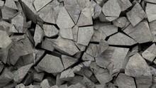 Rocks Pieces Background. 3d Illustration