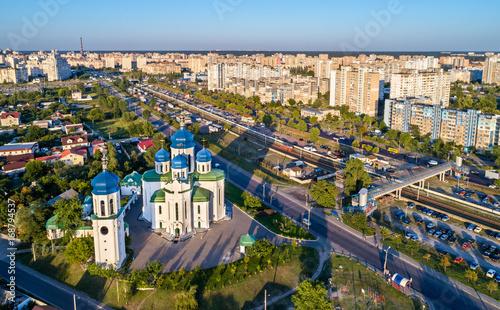 In de dag Centraal Europa Cathedral of the Holy Trinity in Troieshchyna - Kiev, Ukraine