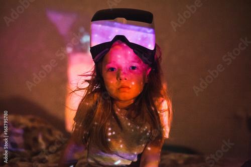 Deurstickers Nasa Dreamy little girl