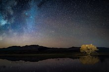 Starry Night Sky Reflected In ...