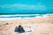 Two shoes on the beach