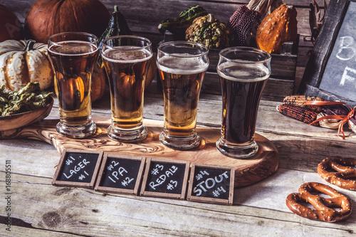 Craft Beer Flight (Halloween Season) Canvas Print
