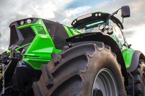 plain modern tractor