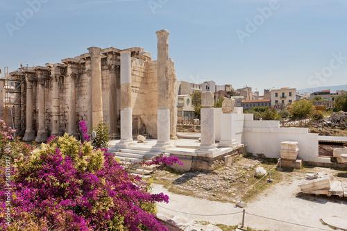 Plakat Biblioteka Hadriana w Atenach w Grecji