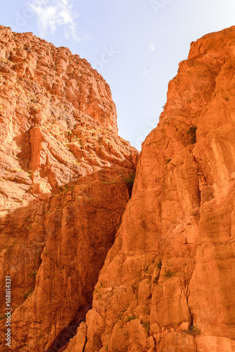 Foto op Canvas Baksteen Todgha Gorge, a canyon in the High Atlas Mountains in Morocco, near the town of Tinerhir.
