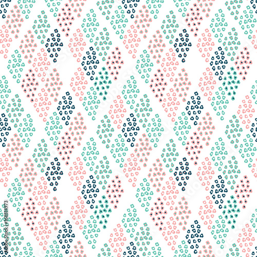 Cute seamless vector floral pattern