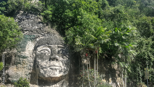Recess Fitting Historic monument Puerto Rico - Indian Sculpture on Rock