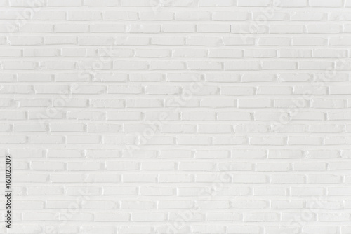 Photo sur Toile Brick wall Pattern of white brick wall for background and textured, Seamless white brick wall background