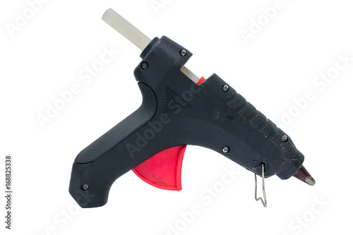 Photo Electric hot glue gun isolated on white