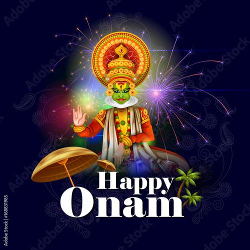 Fotografija  Happy Onam holiday for South India festival background