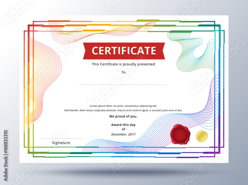 Certificate template design with simple concept colorful business certificate template design with simple concept colorful business certificate design accmission Choice Image