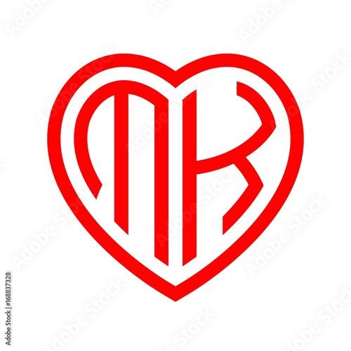 Initial Letters Logo Mk Red Monogram Heart Love Shape Buy This Stock Vector And Explore Similar Vectors At Adobe Stock Adobe Stock