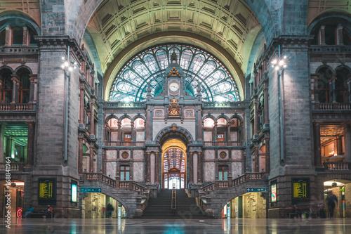 Deurstickers Antwerpen Antwerp Railway Station