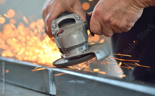 Obraz na płótnie metall schleifen