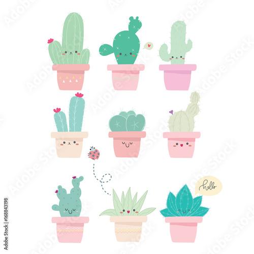 Fotomural cute cactus