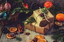 Christmas Background. Selectiv...