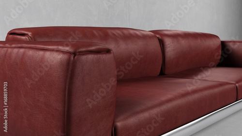 Lehne Von Sofa Aus Leder In Rot Buy This Stock Illustration And