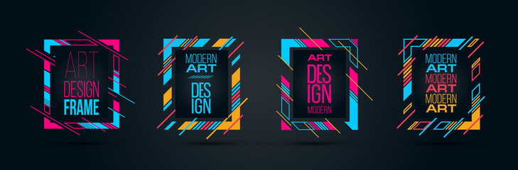 Vector frame for text Modern Art graphics for hipsters 2