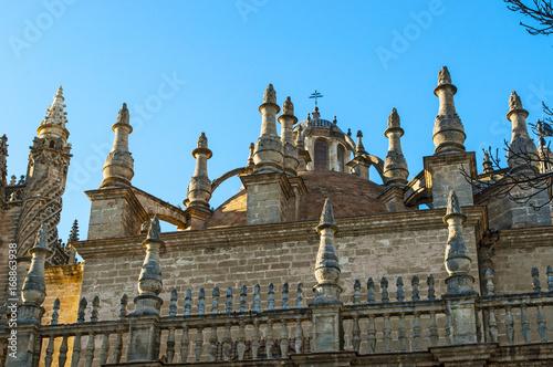 Spagna: vista della Cattedrale di Santa Maria della Sede, la Cattedrale di Sivig Canvas Print